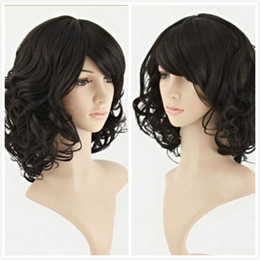 ePacket free shipping Fashion Women Short Curly Wave Healthy Hair Cosplay Party Costume Halloween Wigs