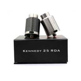 Promotion conseils pour e cig En gros - 2016 New Kennedy 25 RDA clone réutilisable Atomiseur 25mm Diamètre large pointe goutte rda vs Kennedy 22 E Cigs Box Mod Vaporisateur