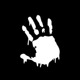 Hot Sale Car Stying Bloody Zombie Hand Print Vinyl Creative Stickers Car Accessories Decorative Decal Funny Jdm