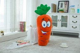 Wholesale 50 cm Cute Baby Pillow Cushion decorate At home laugh Carrot Plush Toys Stuffed soft comfy Plush Carrot Cloth Doll