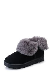 Wholesale Cost price promotions warm winter artificial short fur hair snow boots rubber outsole anti skid wear safety and comfort