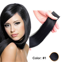 Top quality 20pcs Skin Weft PU Tape in Human Hair extensions 16 18 20 22 24inch Brazilian Indian hair extension 30-70g Free Shipping