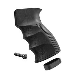 Wholesale Black Pistol Polymer Grip with Finger Grooves for Defense Black AK