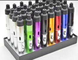 2016Sneak A Vape Click N Vape Mini Herbal Vaporizer Smoking Pipe Touch Flame Lighter Butane Smoke Torch Jet Flame Lighter
