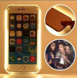 2017 téléphones cellulaires concepteur Le concepteur de luxe a conduit le PC dur de cas de téléphone portable de lumière pour l'iphone 5 6 7 Samsung Galaxy s5 s6 s7 bord Plus la batterie lumineuse Cas des ventes en gros peu coûteux téléphones cellulaires concepteur