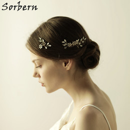 Sorbern Bridal Hair Jewelry Headpiece Crystal Hair Accessories Wholesale Headpiece Pearl Hair Pins + Combs Sets For Bridesmaid