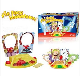 Wholesale 2016 New Pie Face Showdown Kids Game Dual Challenge Ready To Ship Family Time Family Party Game for Double People
