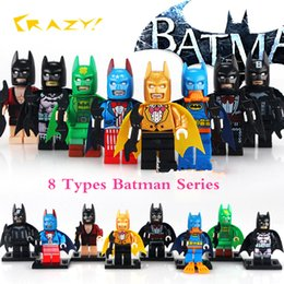 2017 PG8026 8 Kind of Marvel Comics Batman Mutants DC Universe The Dark Knight Rainbow Batman Bruce Wayne Building Blocks Toys
