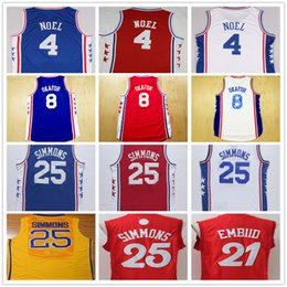 Wholesale High Quality Jahlil Okafor Sergio Rodriguez Blue Joel Embiid White Ben Simmons Christmas Day Red Basketball Jersey