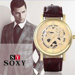 Fashion Luxury watches hollow non-mechanical watch business men watch men's brand high-grade quartz watches for men