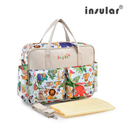 Wholesale New Style Fashion Baby Diaper Bag Waterproof Nylon Large Capacity Messenger Mommy Bag