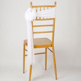 Promotion arcs décorations mariage Chaise de mariage châssis Multicolors organza chaise châssis arc pour le banquet décoration fournitures de fête Livraison gratuite ZA1888