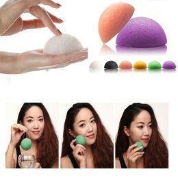 2016 New Natural Konjac Konnyaku Facial Puff Face Wash Cleansing Konjac Sponge 300pcs lot Free DHL Shipping