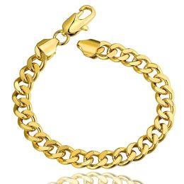 18k gold plated fashion snake chain Bracelets for men women Link Braceletss figaro jewelry B102
