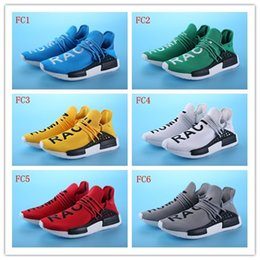 Wholesale Top Quality Pharrell Williams X NMD Human Race Boost Running Shoes Men NMD Sports Athletic Women Outdoor Boost Training Sneaker Shoes