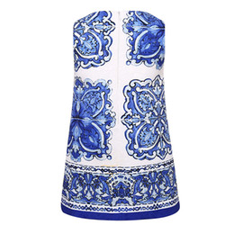 Wholesale 2016 Hot Sale Bear Leader Chinese Girls Dresses Brand Princess Dress Kids Clothes Blue and White Porcelain Print Design Girls Clothes