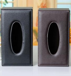 Wholesale Automotive leather tissue box u cortex suction box store paper for creative gift box Fashion auto paper towel business stylemail