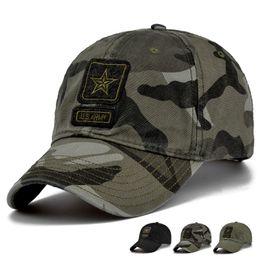 Compra Online Los sombreros de los hombres-Nuevos Hombres Pentagram Cap Casquillos de calidad superior del Ejército de los EE. UU. Sombrero de pesca de caza de los hombres Sombreros de béisbol Camo al aire libre ajustable
