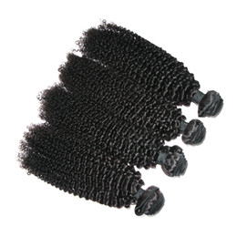 Peut teindre remy extensions de cheveux à vendre-6A Kinky Curly cheveux malaisiens Remy Virgin Hair Extension 4Pcs / lot Healthy Donor Jerry Curl peut être teint Restyled