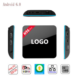 Acheter en ligne Amlogic android-L H96 Pro 4K TV Box Android 6.0 Amlogic S912 Octa Core 2 Go 16 Go 2.4 GHz / 5.8 GHz Wifi 1000M LAN Bluetooth 4.0 Streaming Media Player