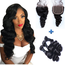 Resika 7A Double Weft Malaysian Hiar Weave 3bundles hair weft with 4*4 lace closure top lace with baby hair 50g pc wholesale price