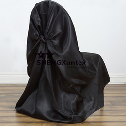 Black Color Satin Banquet Wedding Chair Cover \ Decoration Chair Cover