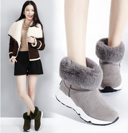 Wholesale The new winter wedges women add wool maomao short boots to keep warm ugg boots round head foot leisure shoes