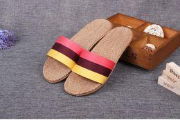 home slippers chaussure femme flax beach summer