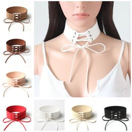 For woman fashion Chokers Wide velvet ribbon lace necklace collar necklace strap punk personality Necklaces Pendants 1011