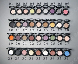 36 colors 1.5g Pigment Eyeshadow Single Eyeshadow with English Name 20pcs
