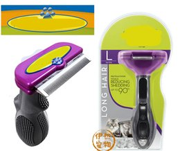 Wholesale Top Rated Pet supplies Cat Dog grooming tools Pet Combs Thinning hair dog brush Cleaning up damaged hair Knotted hair removal cat brush