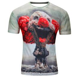 Acheter en ligne Shirt de douille d'impression des animaux gros-T-shirt à manches courtes en coton à manches courtes T-shirt Punk 3D pensiers / arbre imprimé T-shirt hommes t-shirt M-4XL 2017 New Fashion top tees