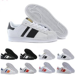 Wholesale 2017 Cheap Online Superstar Shoes Running Classic Mens Women Superstars Sneakers Skateboarding Casual Shoes Size