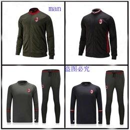 Wholesale Best quality survetement football AC Milan training AC Milan tracksuits with AC Milan sweatshirts top pan