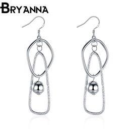 Bryanna 925 sterling silver dangling earrings for women Fashion Jewelry Wholesale Wedding Gifts long drop earrings E2072