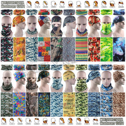 Canada 10pcs / lot Top Popular Camo Underwood Styles Polyester Tube Multifonction Bandana Militaire Stretchy Face Mask Foulard Headbands scarf tube polyester deals Offre