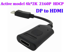 Wholesale Active model k K P HDCP DisplayPort DP Male to HDMI Female Video Audio HDTV Converter Adapter Multiple Monitor set