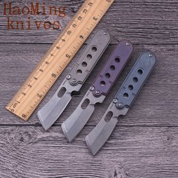 Pocket folding knife outdoor camping survival tactics portable razor titanium handle s35vn keychain mini Knives EDC hunting fighting toolS