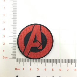 AVENGERS Small Red A EMBROIDERED IRON-ON PATCH marvel hulk captain america