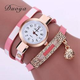 Wholesale 2016 Nouveau Luxe Montre Femme Boule D or Pendentif Long Bracelet En Cuir Montres Femme Montre Vintage Horloge Quartz Montre