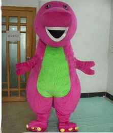 Wholesale 2017 new Profession Barney Dinosaur Mascot Costumes Halloween Cartoon Adult Size Fancy Dress