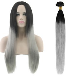 Ombre Brazilian Hair Bundles 3pcs lot T1B Gray Stradght Hair Weft Can Be Dyed 100% Virgin Human Hair Weave Cheap Price Large Stock