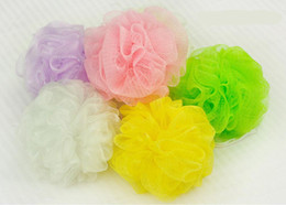 Wholesale bath ball bathsite bath tubs Cool ball bath towel scrubber Body cleaning Mesh Shower wash Sponge product Random Color