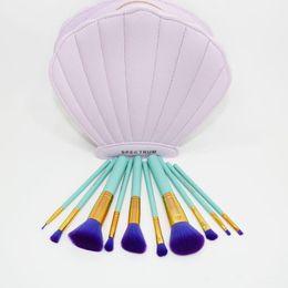 Wholesale 2017 Spectrum Brushes Mermaid Dreams Piece Vegan Brush Set Glam Clam Case Pink Color