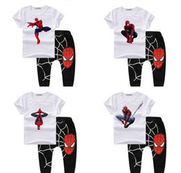 2017 spiderman ensembles de vêtements d'été Bébé, garçon, vêtements, printemps, 2017, bodysuit, boutique, enfants, vêtements, spiderman, enfants, vêtements, ensembles, été, costume, t-shirt, pantalon, T1 abordable spiderman ensembles de vêtements d'été