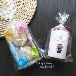 Promotion sac de rangement clair Vente en gros-50pcs / lot 3size sacs d'emballage en plastique 14.5x23.5cm Clear Cellophane Sac Noël Cookie Bag Boulangerie Gift Packing