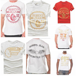 Wholesale Mens Robin jeans t shirts top Best quality real American jeans shirt for men cotton summer t shirts tees robin jeans clothing M XXXL