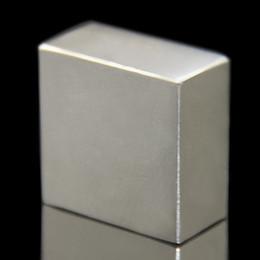 Acheter en ligne Aimant néodyme forte-1PCS bloc 40x40x20mm super puissant puissant bloc de terre rare NdFeB aimant néodyme N52 aimants - Livraison gratuite