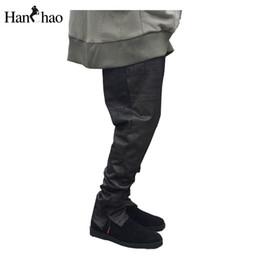 2016 comprimento cintura quadril Net Double Layer Hip Hop calças Full Length 2017 Primavera Frente Zipper cintura Desenhar String Regular Mens Mens Calças comprimento cintura quadril promoção