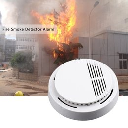 Wholesale Free DHL Fire Smoke Sensor Detector Alarm Tester dB Home Security System for Family Guard Office building Restaurant